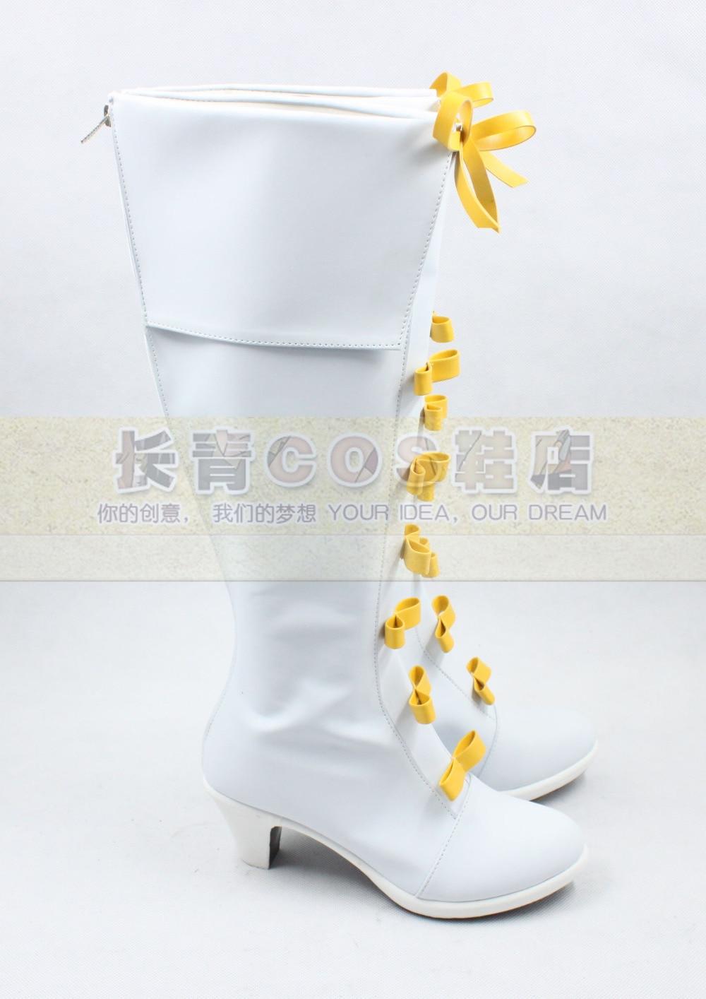The Legend of Heroes Sora no Kiseki Elie MacDowell White Girls Long Cosplay Shoes Boots C006