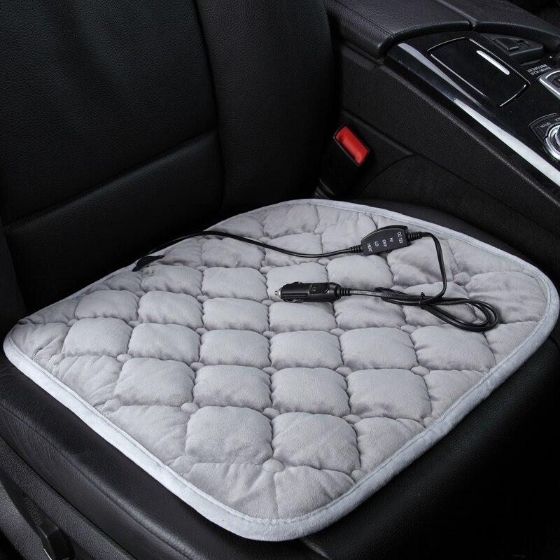 Almohadilla de asiento de coche de invierno de 12V con calefacción General para Land Rover Discover 3/4 freellander 2 Sport Range Evoque estilo de coche