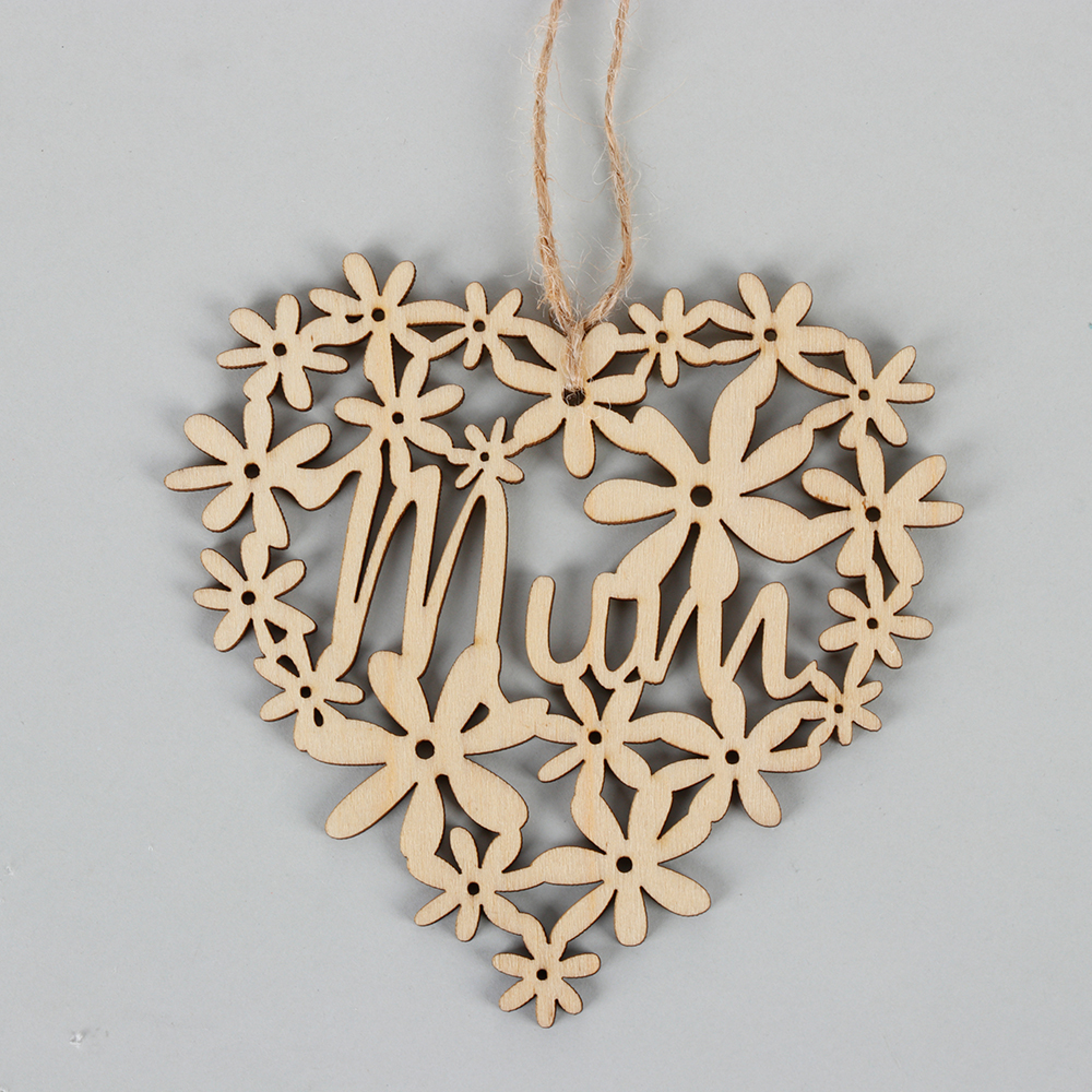 25pcs Laser Cut Wood Rctangle Embellishment Wooden Shape Craft Wedding Decor HOT