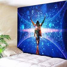 Muzyczny Bar Michael Jackson dekoracyjne gobelin salon ściany wiszące gobeliny Boho sypialni wykładzina ścienna koc niebieski 3 rozmiar tanie tanio IKat hoME Michael Jackson Tapestry Tkane AUBUSSON Finished Product Rectangle Square Pranie ręczne Inne Można prać w pralce