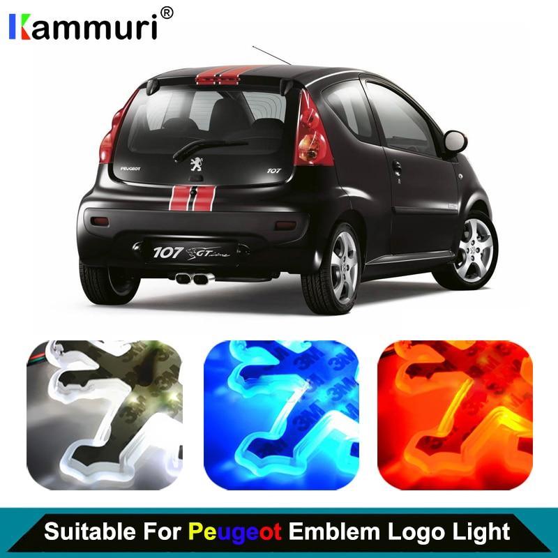 Car Styling led emblem Badge Logo Light for Peugeot 206 2008 3008 207 301 307 308 407 508 406 LED Emblem Badge Logo LightCar Styling led emblem Badge Logo Light for Peugeot 206 2008 3008 207 301 307 308 407 508 406 LED Emblem Badge Logo Light