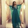 Hot 2017 Simple Vestido de Noche Largo de Gasa Árabe Dubai Abaya Vestidos Para Las Mujeres Dubai Kaftan Vestido de Casamento Vestidos de Noche