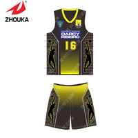 2016 Basketball Shirts Suit Full Sublimation Printing Mini Order 5pcs Cheap Price