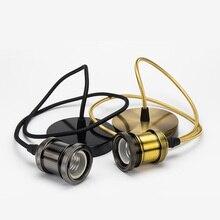 Ретро металлический подвесной светильник патрон E27 1 метр винтажные лампы Эдисона основа люстра потолочный светильник светодиодный внутренний декоративный светильник ing