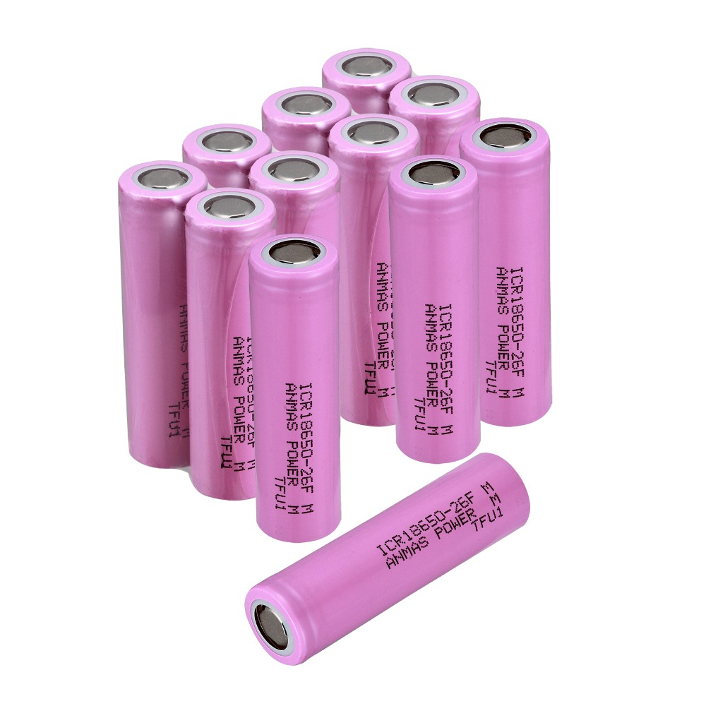 ICR <font><b>18650</b></font> 3.7V 2600mAH Li-ion Lithum Rechargeable Battery Flat Top image