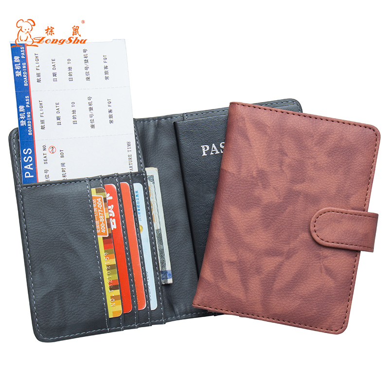 Card & Id Holders Russian Black Buckle Solid Color Casual Passport Cover Built In Rfid Blocking Protect Personal Information