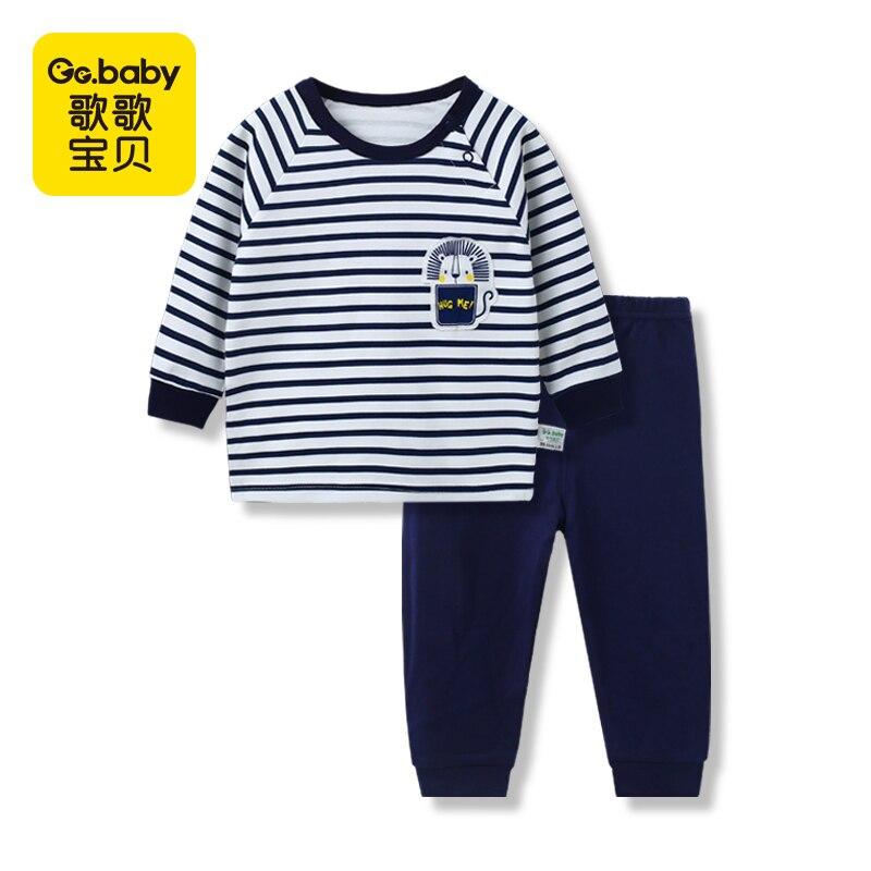 Pijamas de los niños de invierno para las niñas conjunto de pijamas de ropa de dormir de algodón pijamas niños pijamas de bebé para niños ropa interior trajes de ropa