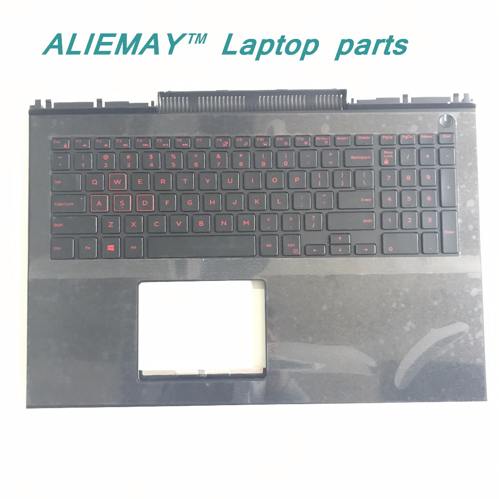 BRAND New orig laptop case for DELL Inspiron MASTER15 7566 7567 layout US RED Backlit Keyboard palmrest russian new laptop keyboard for samsung np300v5a np305v5a 300v5a ba75 03246c ru layout