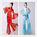 Chino tradicional traje de la danza de las mujeres ropa de la tradición dress desgaste trajes de baile tradicional chino tradicional traje de la danza de ventilador