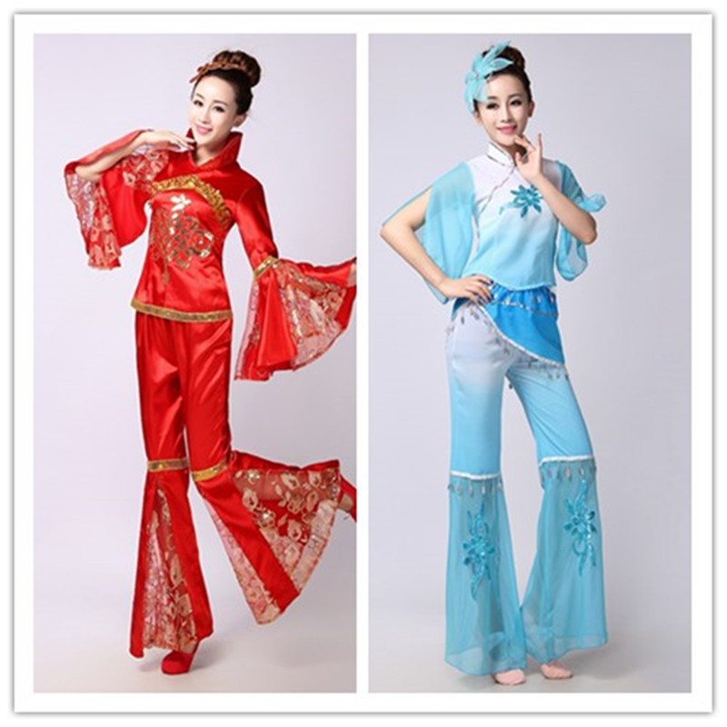 chinese folk dance costume women tradition clothing dress wear traditional dance costumes chinese folk dance costume for fan