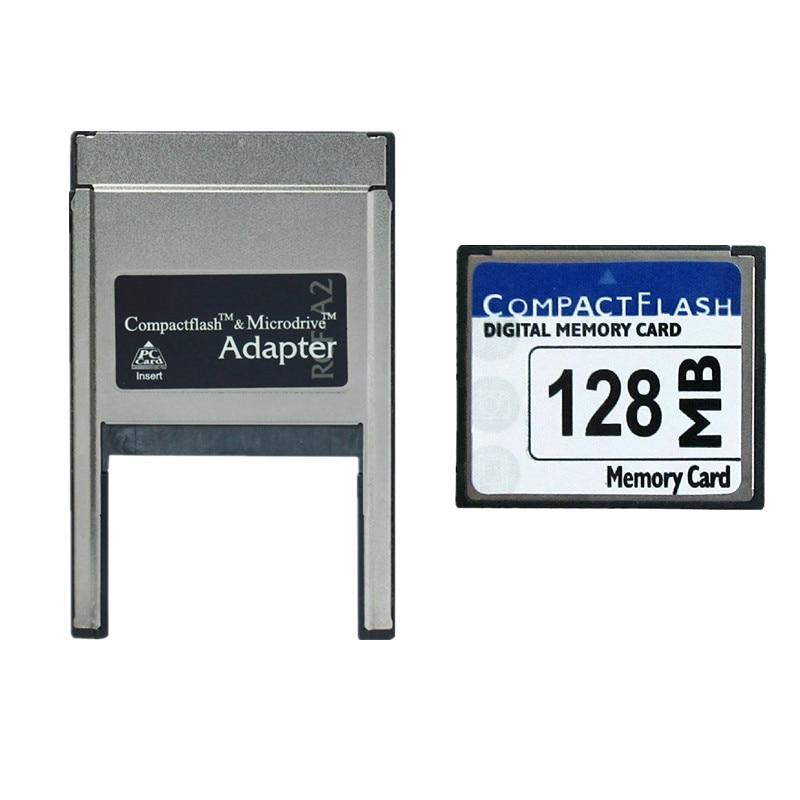128MB CompactFlash Card CF Memory Card + Compact Flash Card Into PC PCMCIA Card Reader CompactFlash Microdrive Adapter