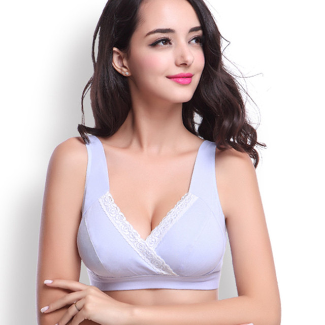 dc51615e2 Maternity nursing bra Cotton Breastfeeding bra for Pregnant women Pregnancy  Breast feeding underwear clothing Wire free Bras