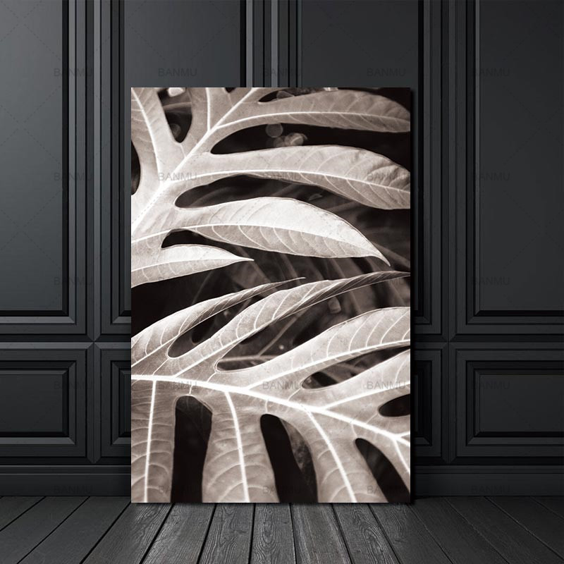 2 46 31 De Réduction Toile Peinture Impression Mur Scandinave Feuille Nordique Abstrait Printemps Mur Photos Salon Art Décoration Photo Pas De