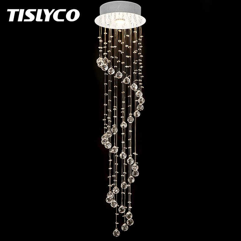 Современные капли дождя хрустальная люстра освещение для фойе Лестница спальня отель HallCeiling подвесная Подвеска лампы