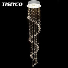 Modern Rain Drop Crystal Chandelier Lighting for Foyer Stair Staircase Bedroom Hotel HallCeiling Hanging Suspension Pendant Lamp