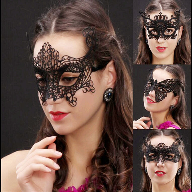 Black Lace Masquerade Mask Party Mask Fiesta Halloween Mask Woman ...