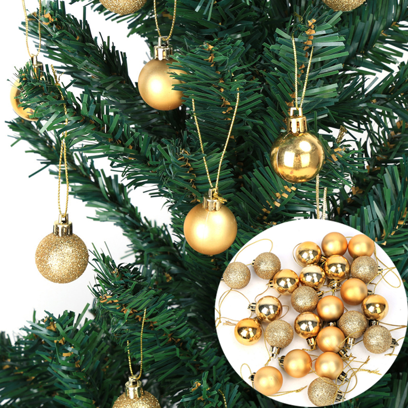 24 pcslot christmas tree ornament balls 3cm xmas tree decorations for home event party - Christmas Decorations Wholesale