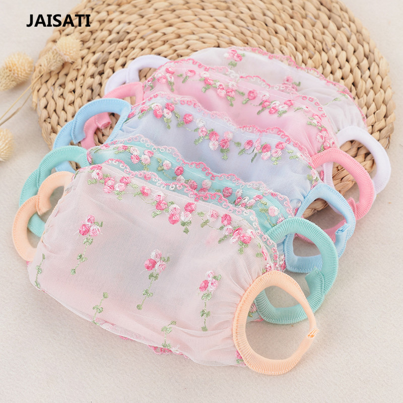 JAISATI Lace sunscreen dust shade thin section breathable cotton mask anti - UV windproof sand masks jaisati sunscreen veil summer dust masks breathable cycling driving neckscreen thin mask
