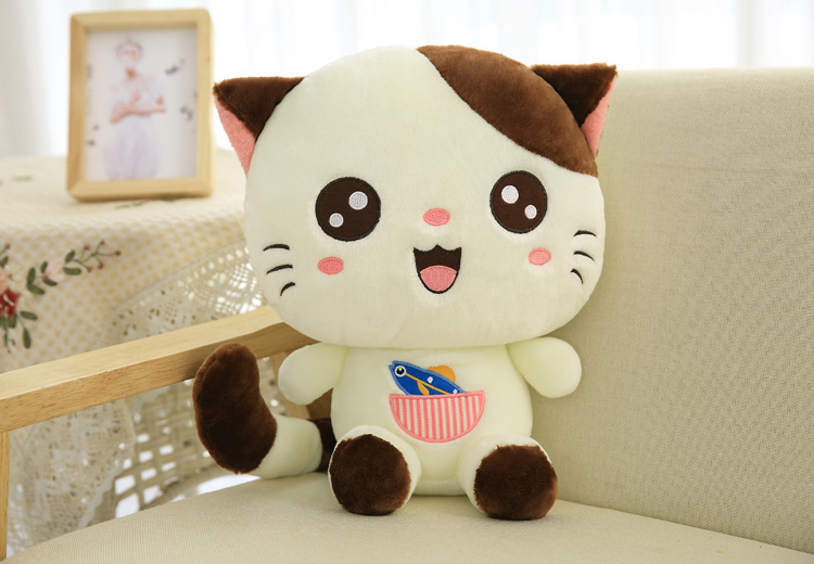 lovely cartoon cat with round eyes plush toy large 60cm white cat soft doll throw pillow Christmas gift s2372lovely cartoon cat with round eyes plush toy large 60cm white cat soft doll throw pillow Christmas gift s2372