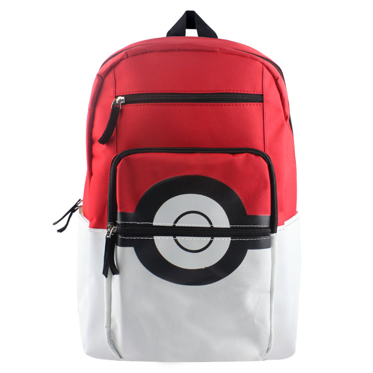 hombres mujeres mochila de lona juego pokeball bolsa de bolsa de la escuela para nios