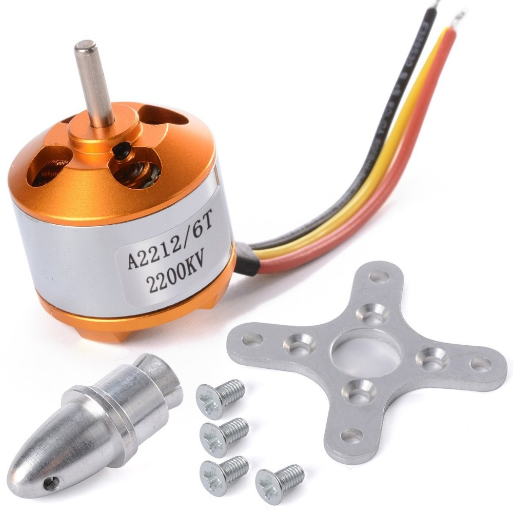 A2212 2200KV Outrunner Brushless Motor Electric Engine 6T Multirotor Quadcopter Airplane Aircraft Parts 4set lot universal rc quadcopter part kit 1045 propeller 1pair hp 30a brushless esc a2212 1000kv outrunner brushless motor