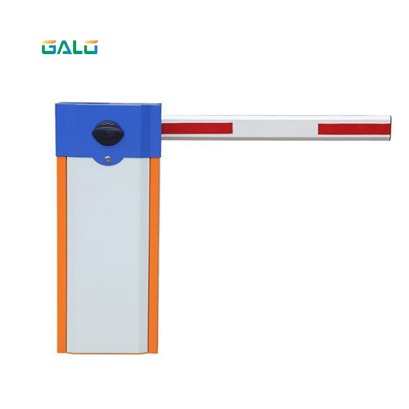 Automatic Parking Barrier Gate With Yellow-blue Body Color, Highway Traffic Barrier Gate Opener 4m Boom Optional