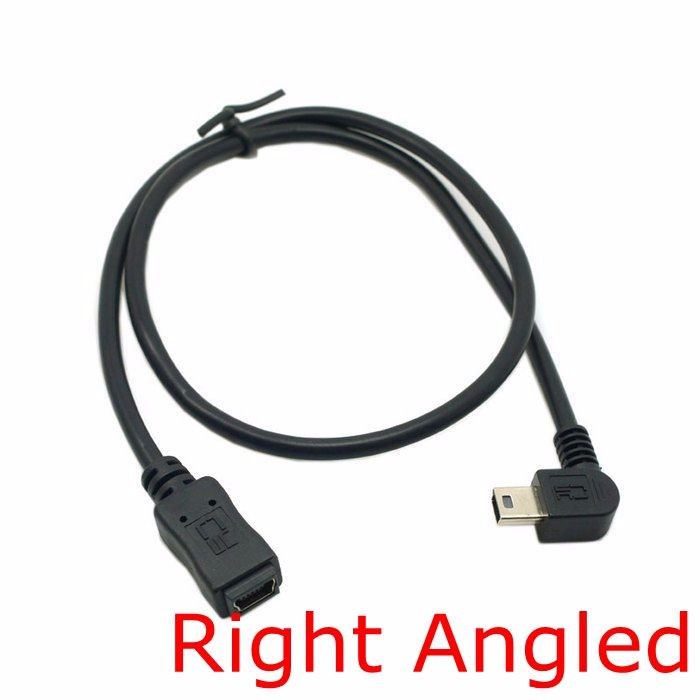 90 Degree Mini USB 5 Pin Male to Mini USB Female Extension Cable Left & Right 90 Angled MINI USB 5Pin extend cable 0.5m 50cm lidu usb male to micro usb male extension charging cable for samsung black 100 cm
