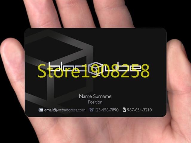 200pcslot business transparent id cards transparent business cards