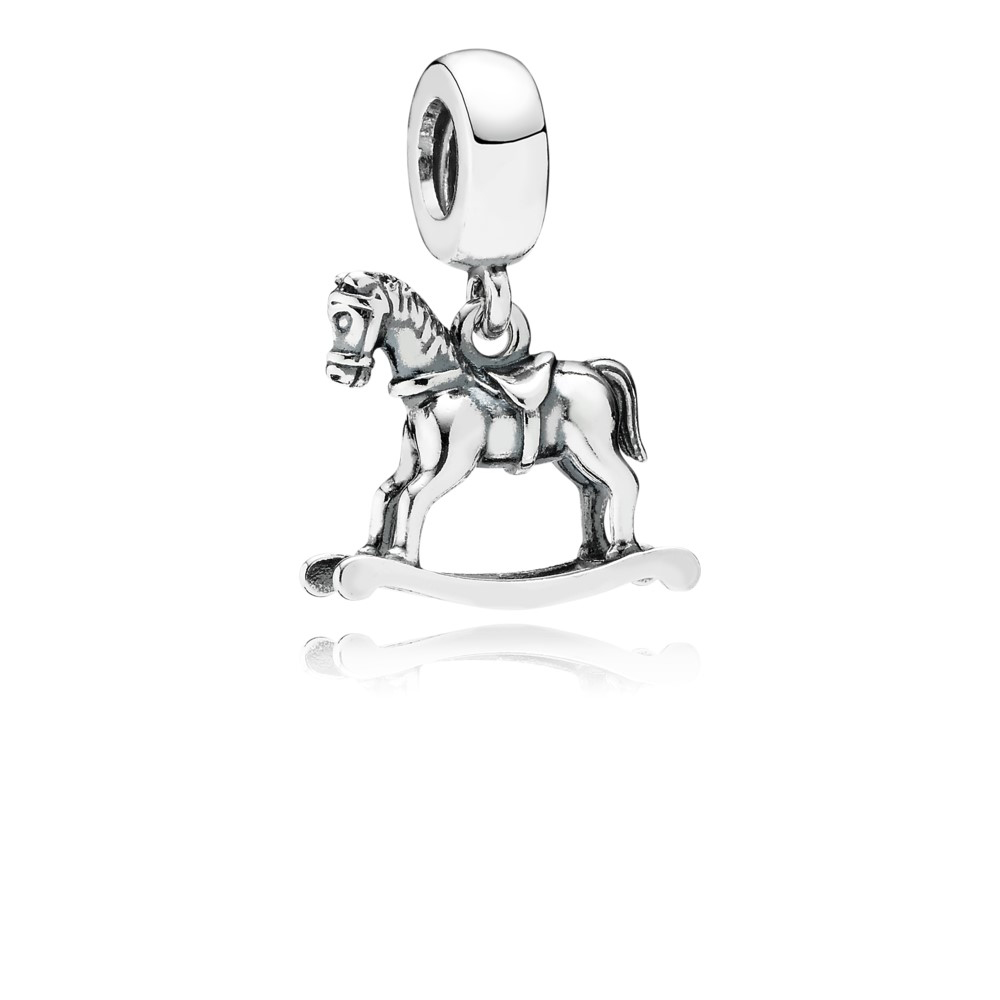 Schmuck & Zubehör Chamss 2019 Jahre Original 1:1 925 Silber Schaukel Pferd Anhänger Charme Mode Glamour Dame Anhänger Diy Armband Schmuck Geschenk Neueste Technik