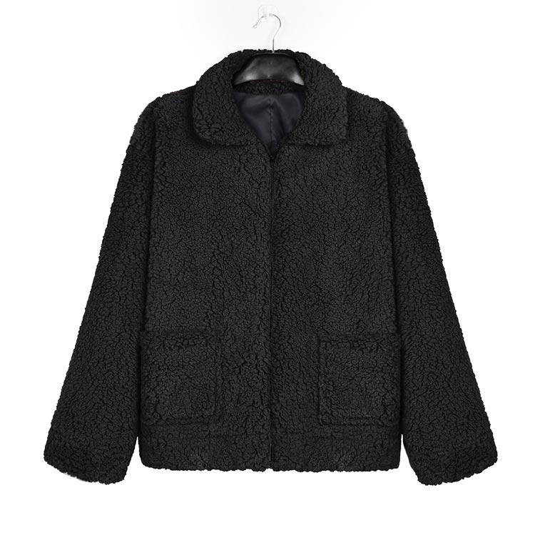 Autumn winter jacket female coat 2019 fashion korean style plus size women teddy fur coat female casual jacket woman pusheen