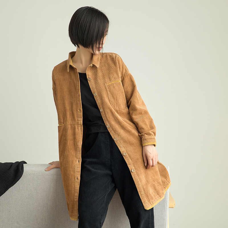 Осенне-зимний женский свитер женская блузка Винтажная с длинными рукавами Вельветовая однотонная свободная повседневная женская верхняя одежда YoYiKamomo 2018 Новинка