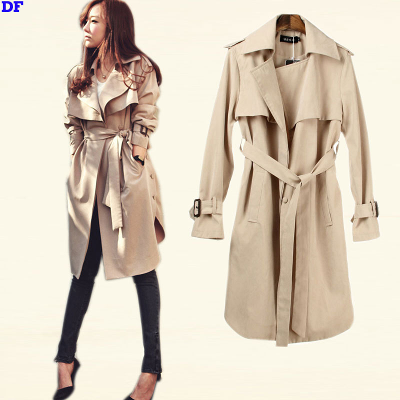 Khaki Trench Coat Womens Photo Album - Reikian