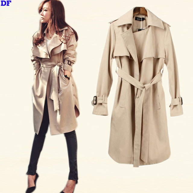 Spring Trench Coat For Women New Fashion Women Raincoat With Belt Plus Size Slim Outwear Women Coat Top Quality Outfits Cape XL