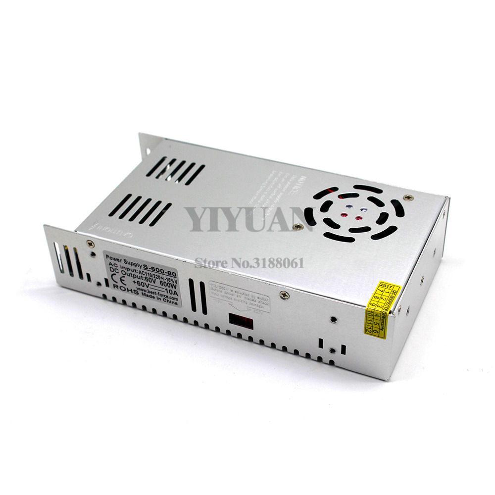 Image 3 - 600W 60V 10A Switching power supply Driver Transformers AC110V 220V TO DC60V SMPS for Led Strip Modules Light CCTV 3D Printer-in Switching Power Supply from Home Improvement
