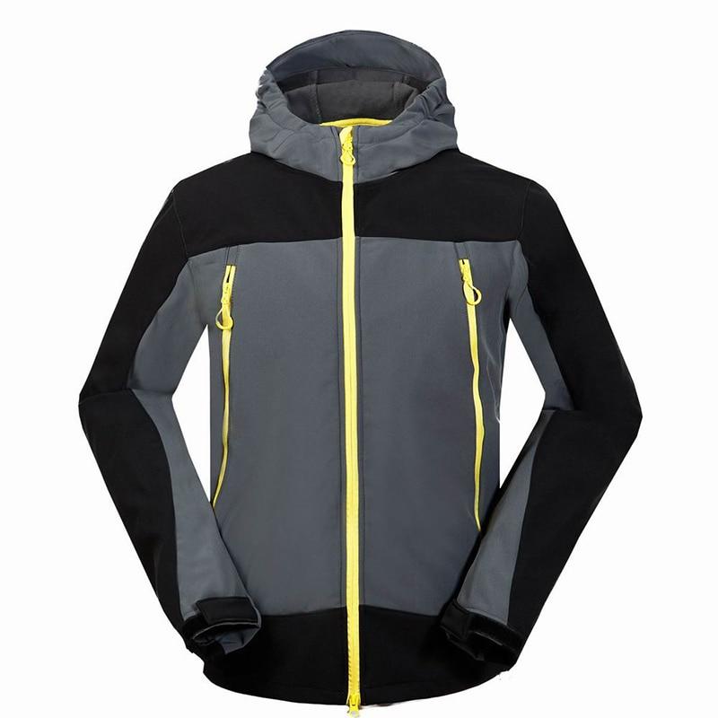 2017 Outdoor Sport Soft Shell Fleece Lining Hooded Coat Hiking Camping Trekking Softshell Jacket Men Climbing Jaqueta Masculina игрушки животных на электро радиоуправлении thaw kay authentic