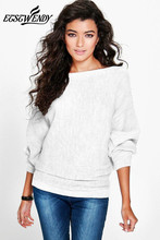 Batwing Long Sleeve Knitted Pullover