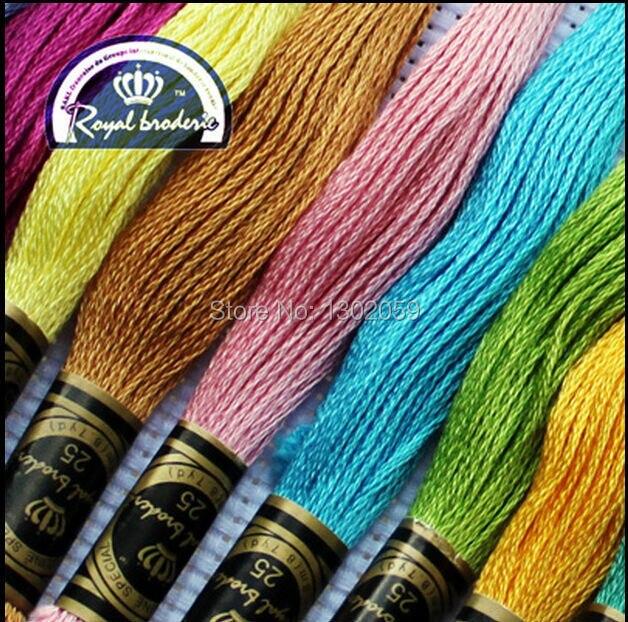 Total 132 pièces choisir n'importe quelle couleur et quantité fil à broder au point de croix Royal similaire DMC-in Soie from Maison & Animalerie    1