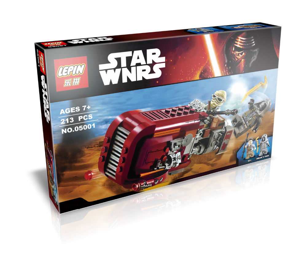 05001 Star Wars The Force Awakens Reys Speeder assembled building blocks Toys gift for kid children compatiable with lego