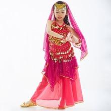 230014b85 Children Girls kids Indian belly dance costumes 7piece clothes arabian  bellydance costumes With Golden Coinsdancing accessories