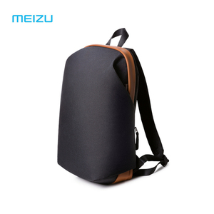 Image 1 - الأصلي Meizu الظهر حقيبة ظهر مدرسية مقاومة للماء موجز نمط سعة كبيرة طالب حقائب الكمبيوتر المحمول لباد ماك بوك حقيبة