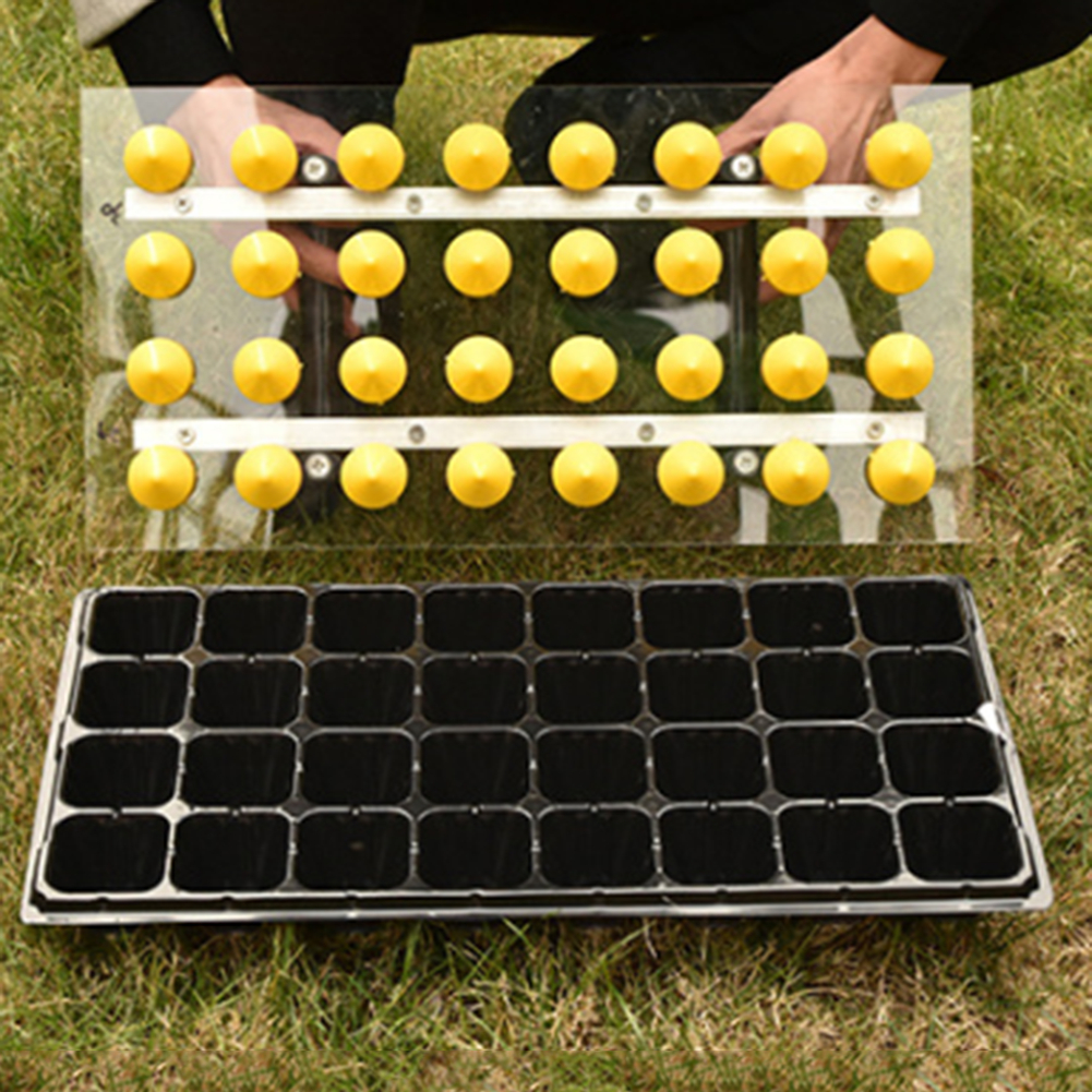 32 Holes Plastic Cells Seedling Starter Trays Plant Flower Pots Nursery Grow Box Tray Plug Planting Planter Container
