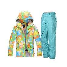 Invierno caliente impermeable de los hombres trajes de esquí y snowboard gsou snow hombre ropa de esquí traje de esquí chaqueta de esquí hombres pantalones esqui