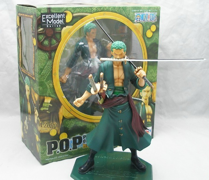 Cool 9.5 One Piece P.O.P POP Roronoa Zoro After 2 Years PVC Action Figure Collection Model Toy kunai pet free shipping 5 7cm japanese one piece after 2 years pvc action figure tea lunch collection model toy 9pcs per set