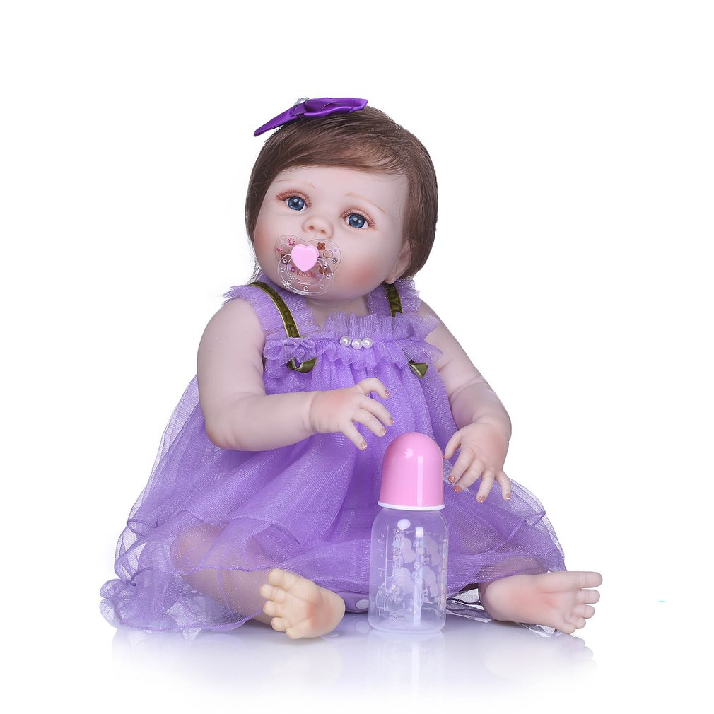 21 inch Silicone Baby Doll Toy Adorable Lovely Handmade Realistic Simulation Newborn Toddler Baby Gift Doll Playmate Toys Gift21 inch Silicone Baby Doll Toy Adorable Lovely Handmade Realistic Simulation Newborn Toddler Baby Gift Doll Playmate Toys Gift