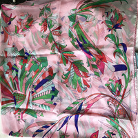 2018 new style women summer silk scarf flower print large shawl