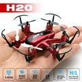 Mini Jjrc h20 hexacopter rc nano 2.4G 4CH 6 axis rc drone quadcopter 3D helicóptero de control remoto modelo de vuelco sin cabeza juguetes