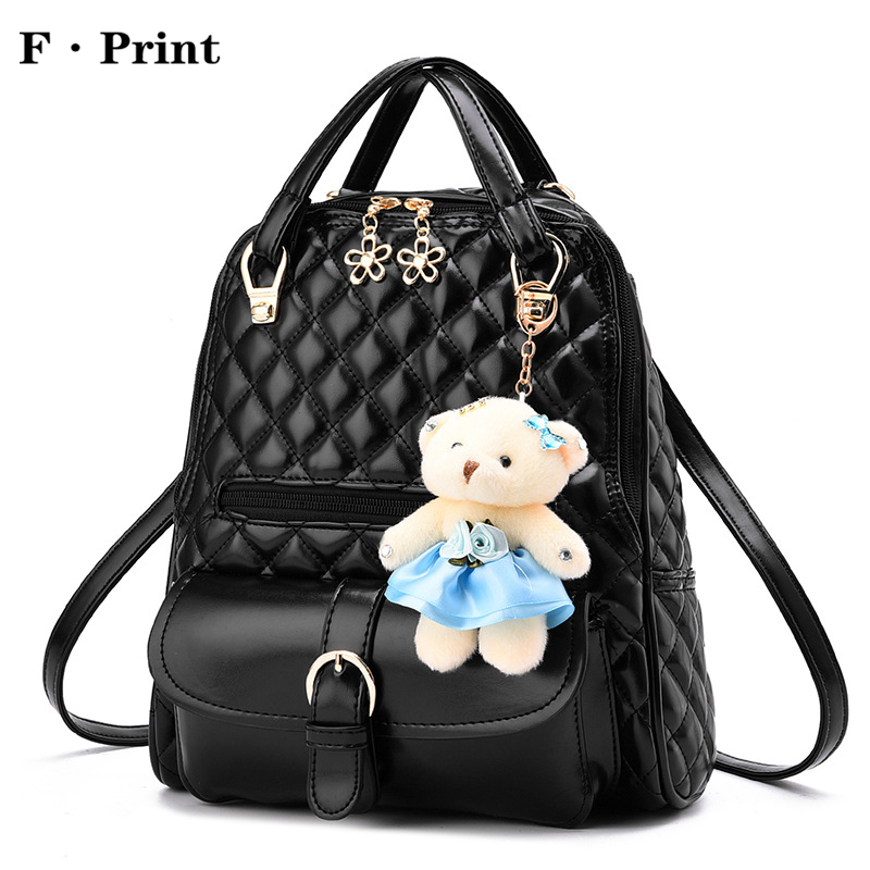 2017 Summer Fashion Diamond Lattice Backpack Girl s Large Capacity School Bag Women Shopping Shoulder Bag