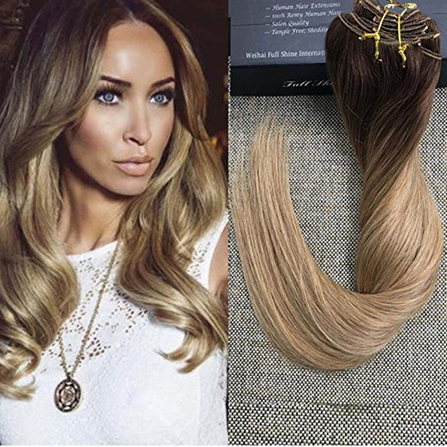 volledige shine 9 stks 120g dikke clip in menselijk haar