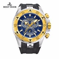 Rafa Tiger/RT mężczyźni Casual zegarki kwarcowe zegarek z chronografem i datą duża tarcza Super Luminous Steel Sport Watch RGA303 w Zegarki kwarcowe od Zegarki na