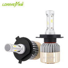 LDRIVE H4 CSP 48W Car LED Headlights Bulb Fog Light 6500K Cool White Auto Headlamp For Lada Toyota Nissan Hyundai Kia Ford Audi